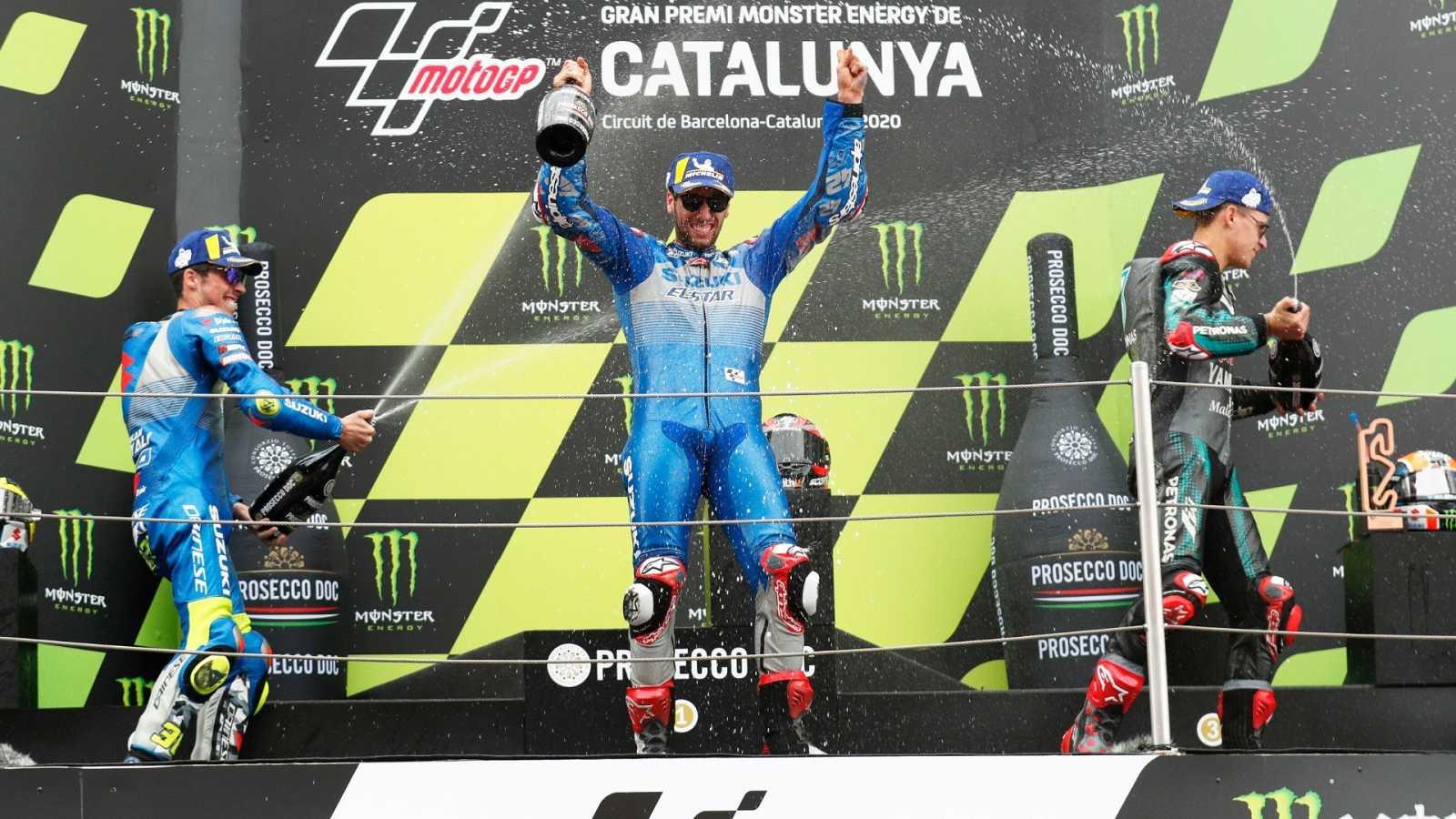 Victoria y liderato para Fabio Quartararo con Rins y Mir en el podio