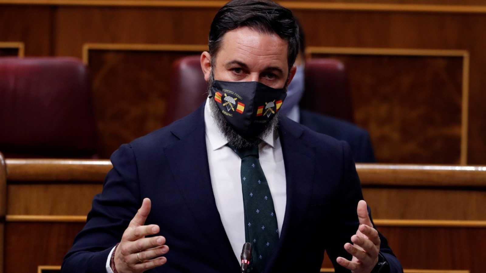 El líder de Vox, Santiago Abascal, en el Congreso