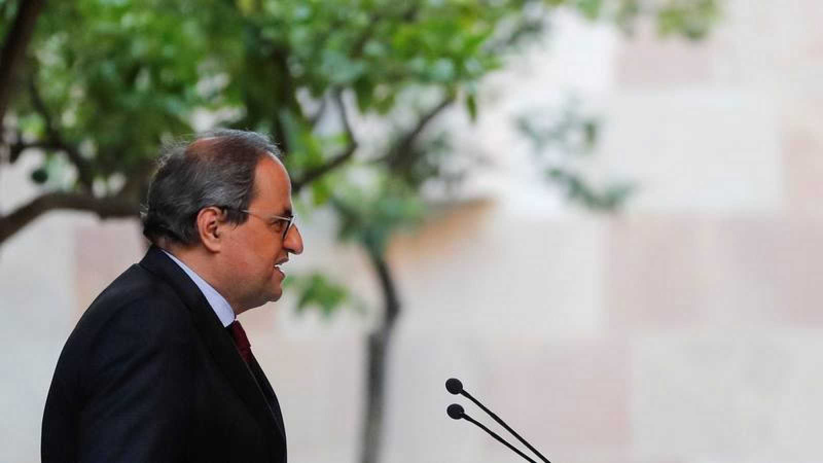 Torra ha pedido al Constitucional que suspenda su inhabilitación