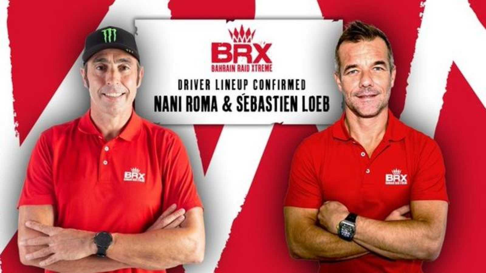 Imagen de Sebastian Loeb y Nani Roma tras anunciar que compartirán equipo para el Dakar 2021.
