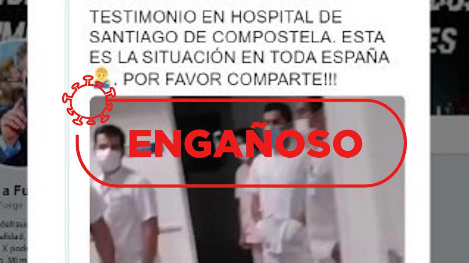 Un vídeo con críticas al Hospital Santiago Apóstol es utilizado en la campaña #emptyhospitals, que niega la existencia del virus.