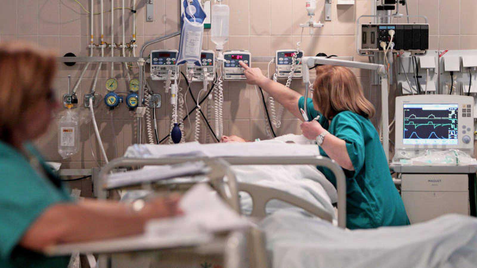 Imagen de la Unidad de Cuidados Intensivos del Hospital General de Valencia