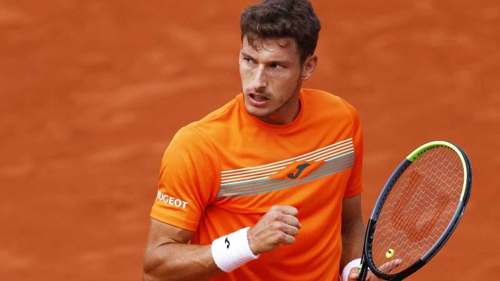El tenista español Pablo Carreño durante su partido de Roland Garros ante Roberto Bautista.