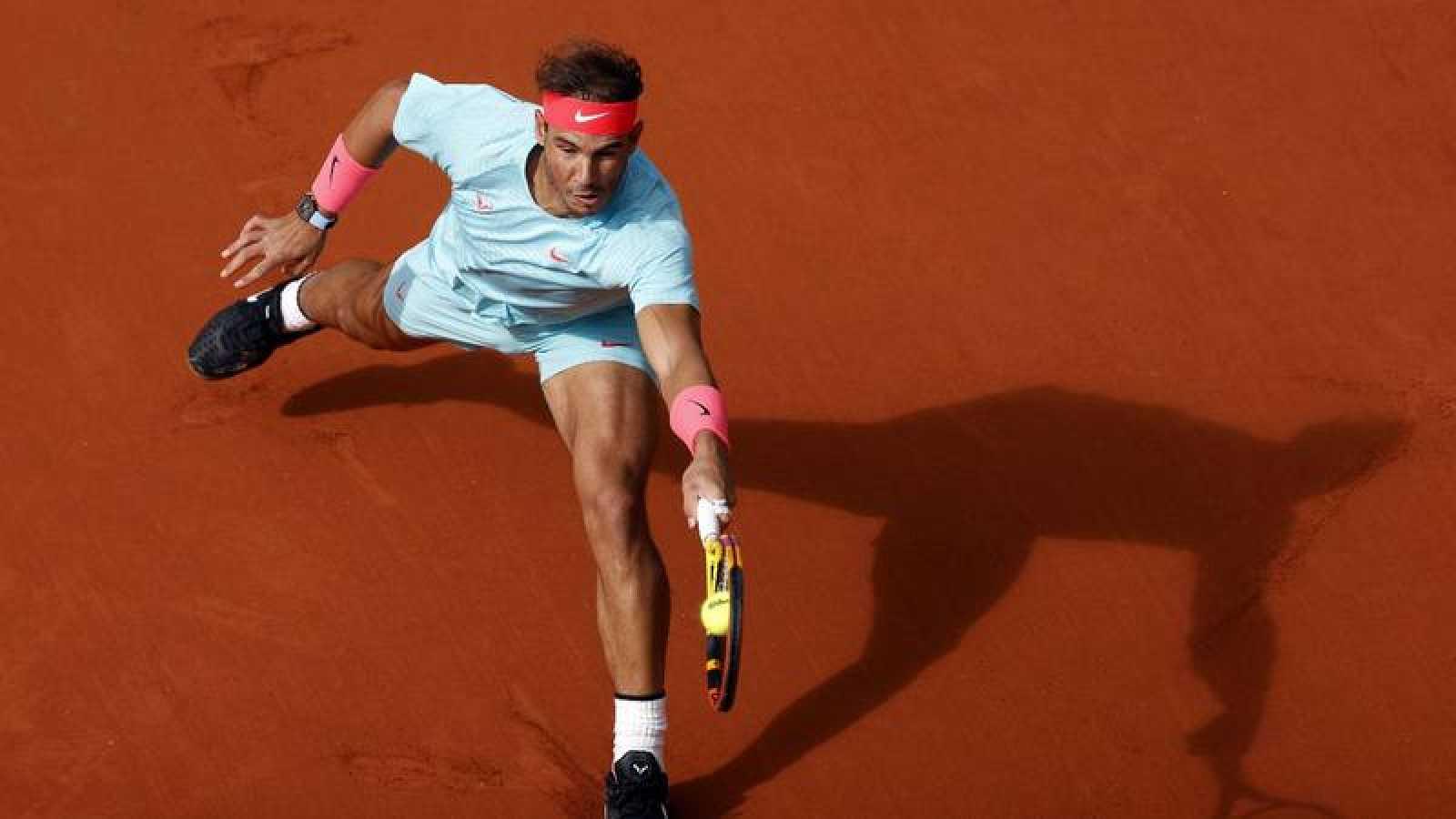 El tenista español Rafa Nadal, durante su partido ante Sebastian Korda en París.