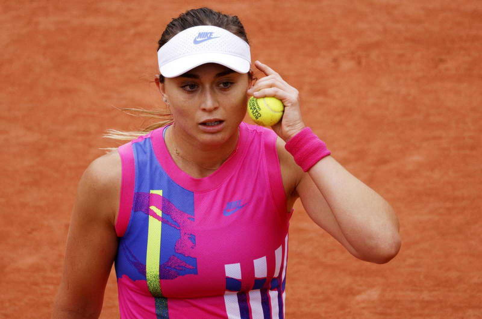 Imagen de la española Paula badosa durante su duelo de octavos en Roland Garros.