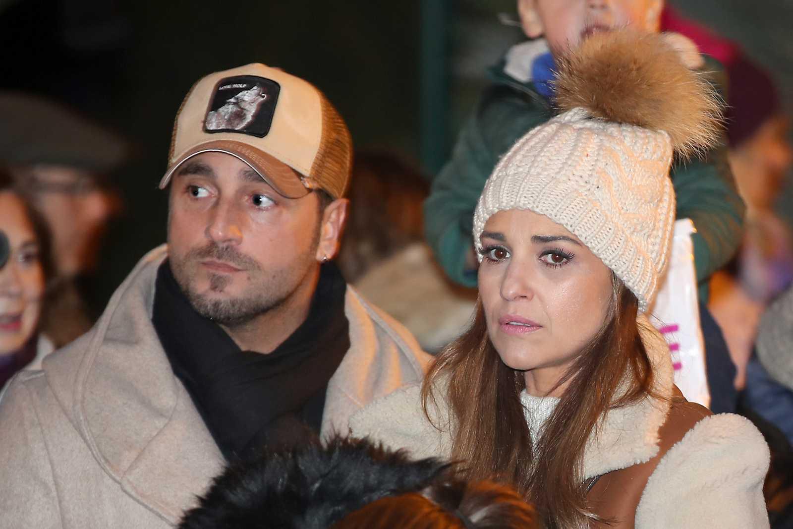 Paula Echevarría y David Bustamante en la última cabalgata de Reyes a la que acudieron juntos