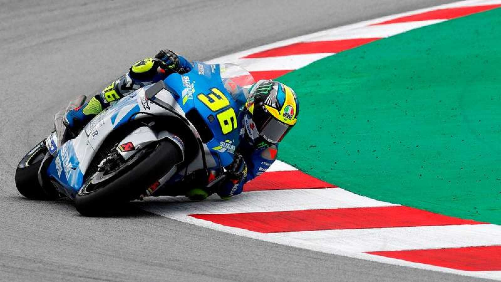 El piloto español de Suzuki Joan Mir durante el pasado GP de Cataluña del Mundial de MotoGP.