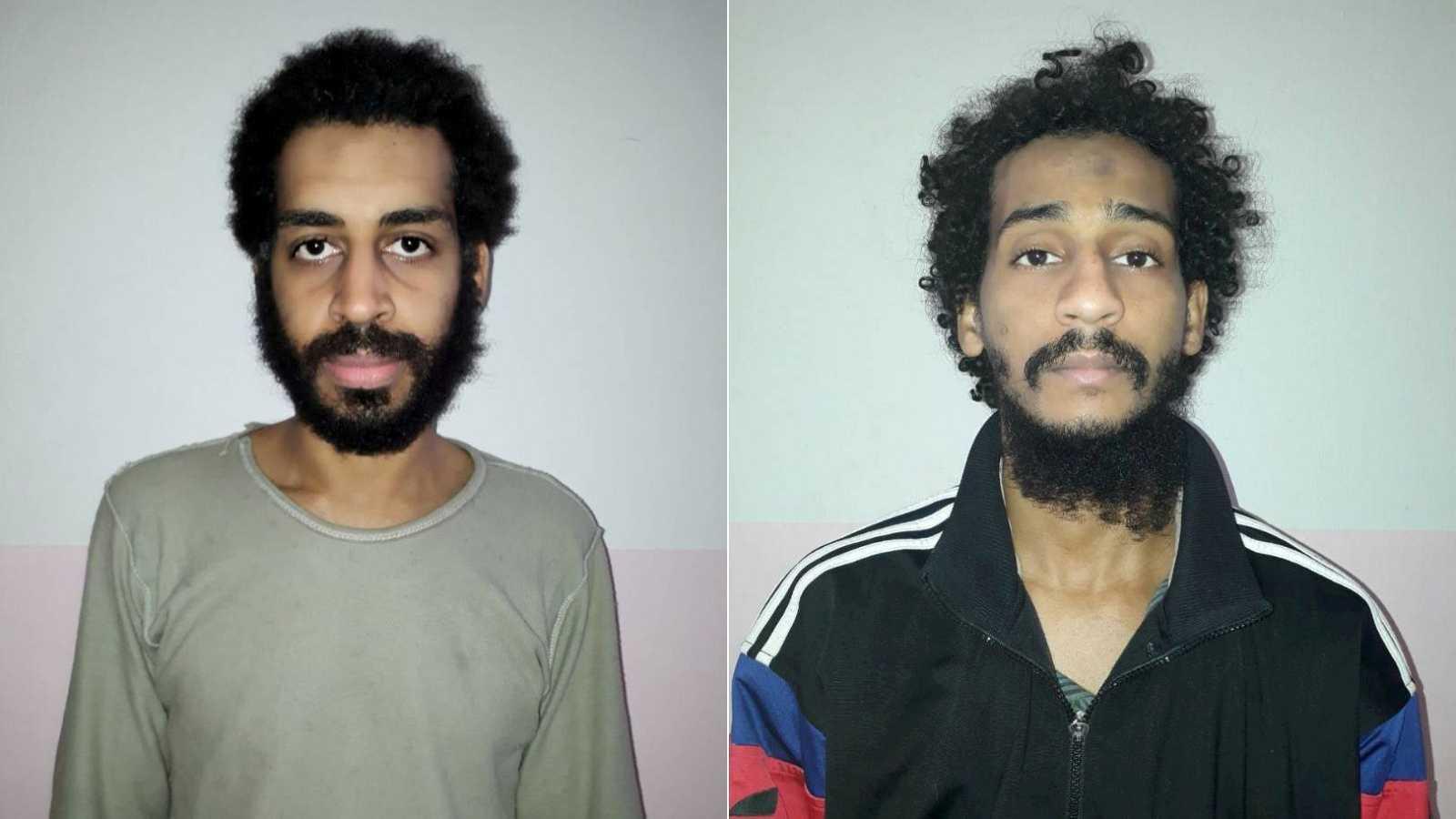 Fotografía de archivo de Alexanda Kotey y Shafee Elsheikh, terroristas del Dáesh