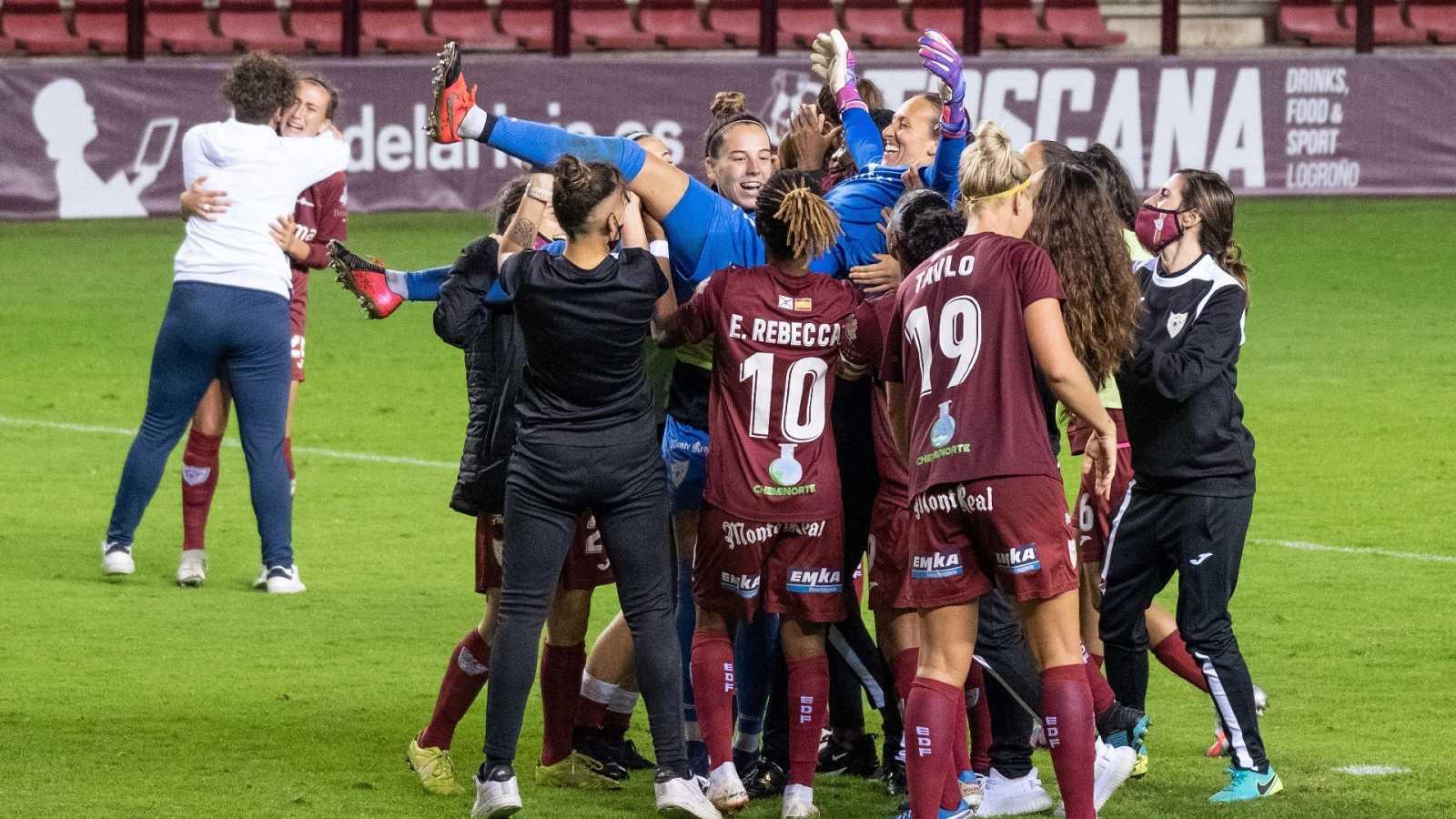 Euforia en Logroño por el pase a la final de la Copa de la Reina