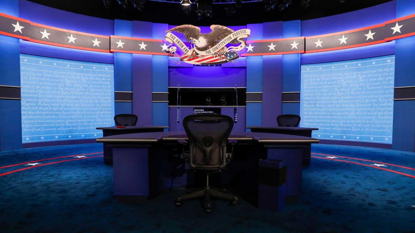 Últimos preparativos del debate entre candidatos a vicepresidente de EE.UU. en la Universidad de Utah