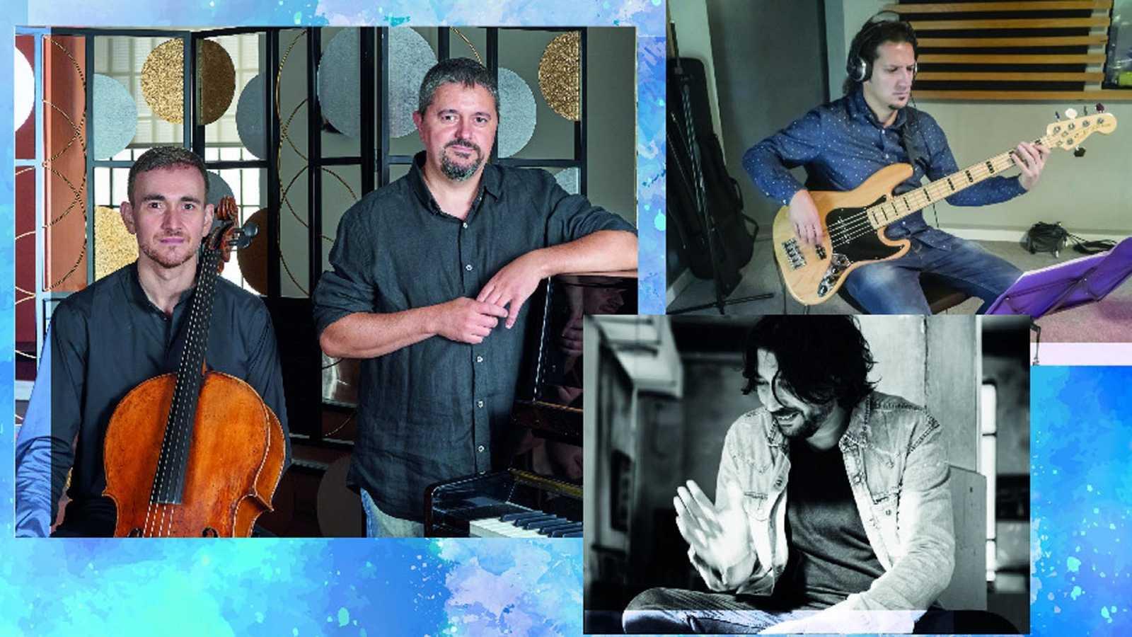 Javier Albarés y 'Lorenzo Moya Flamenco trío'