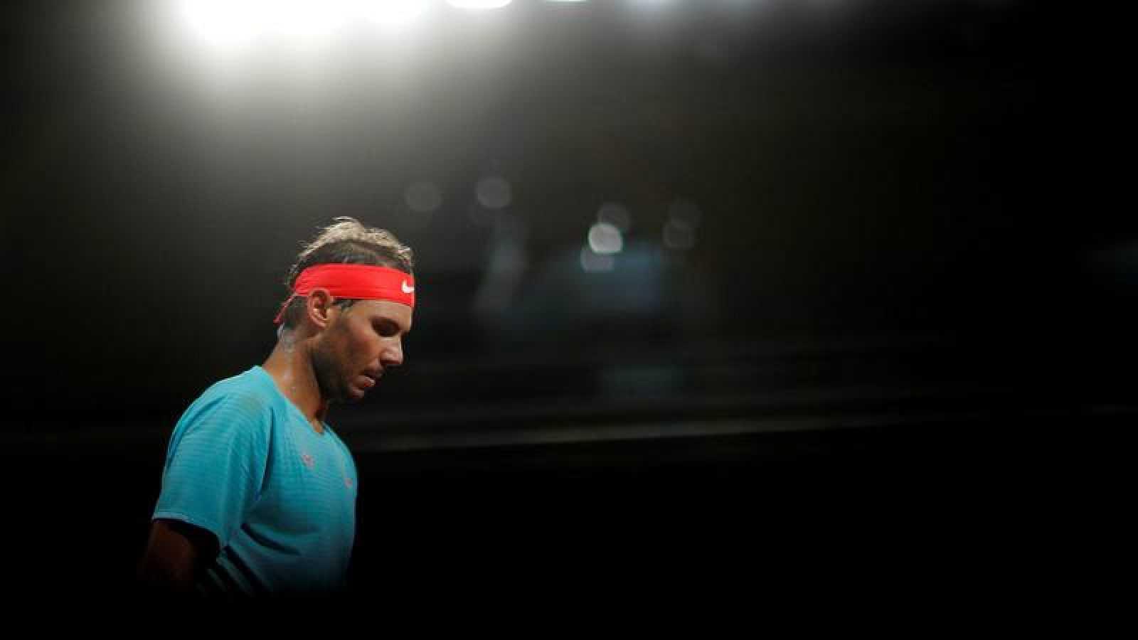 El español Rafa Nadal, en un partido del presente Roland Garros.