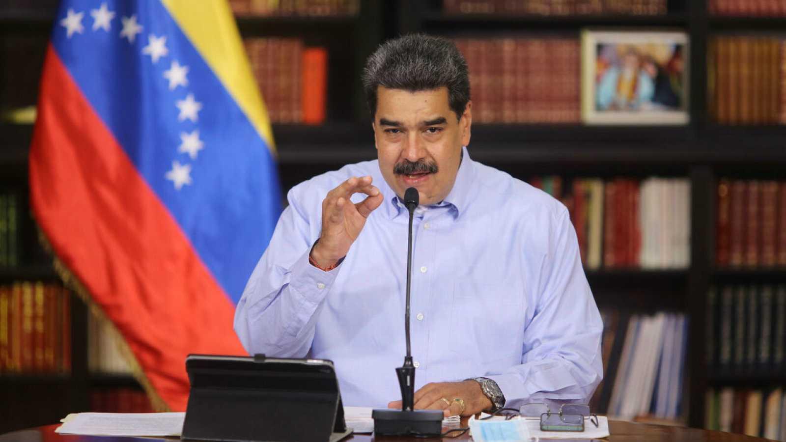Nicolás Maduro durante una prensa en Caracas, Venezuela, el 4 de octubre de 2020.