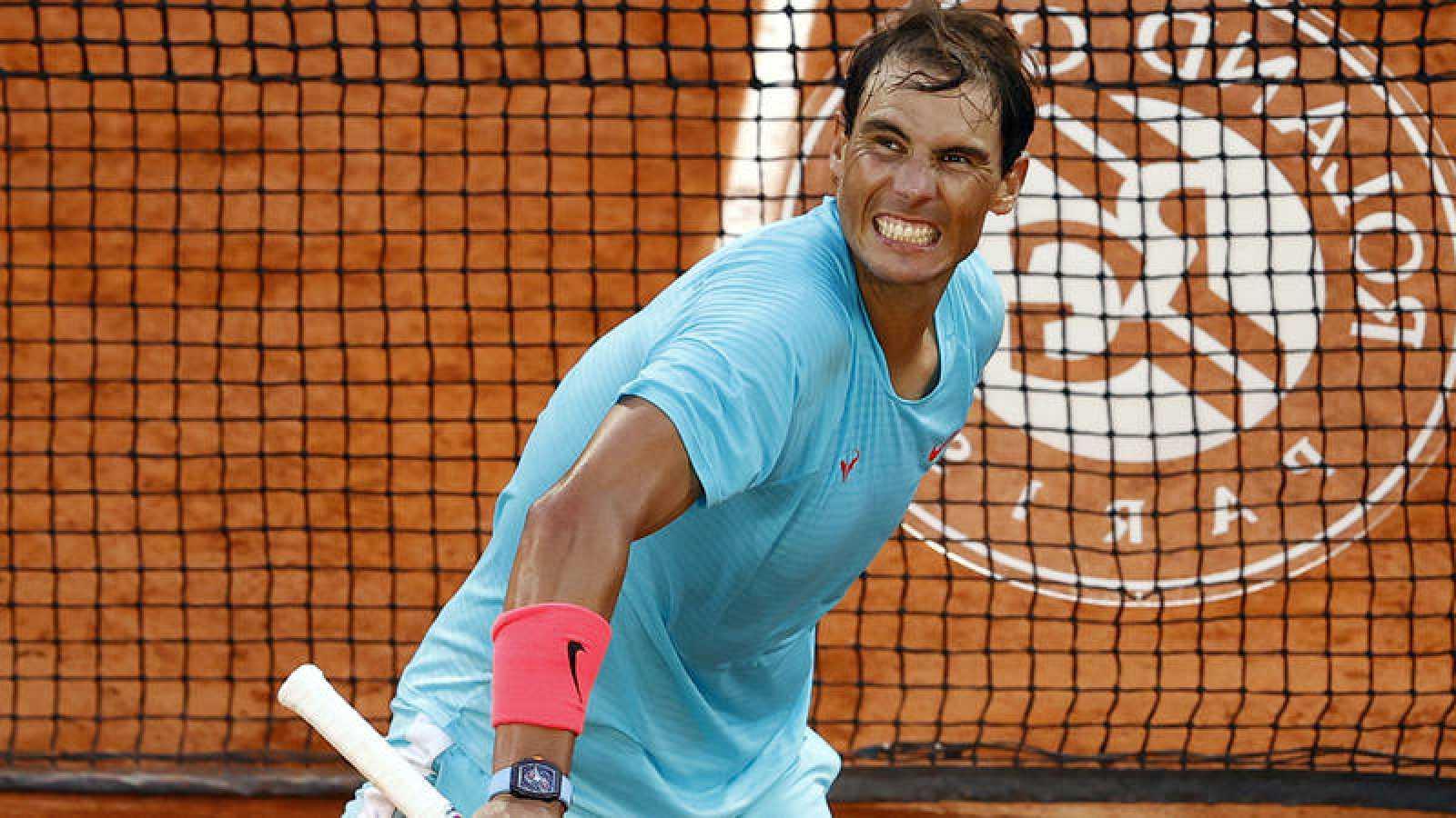 Nadal, tras certificar su pase a la final de Roland Garros.