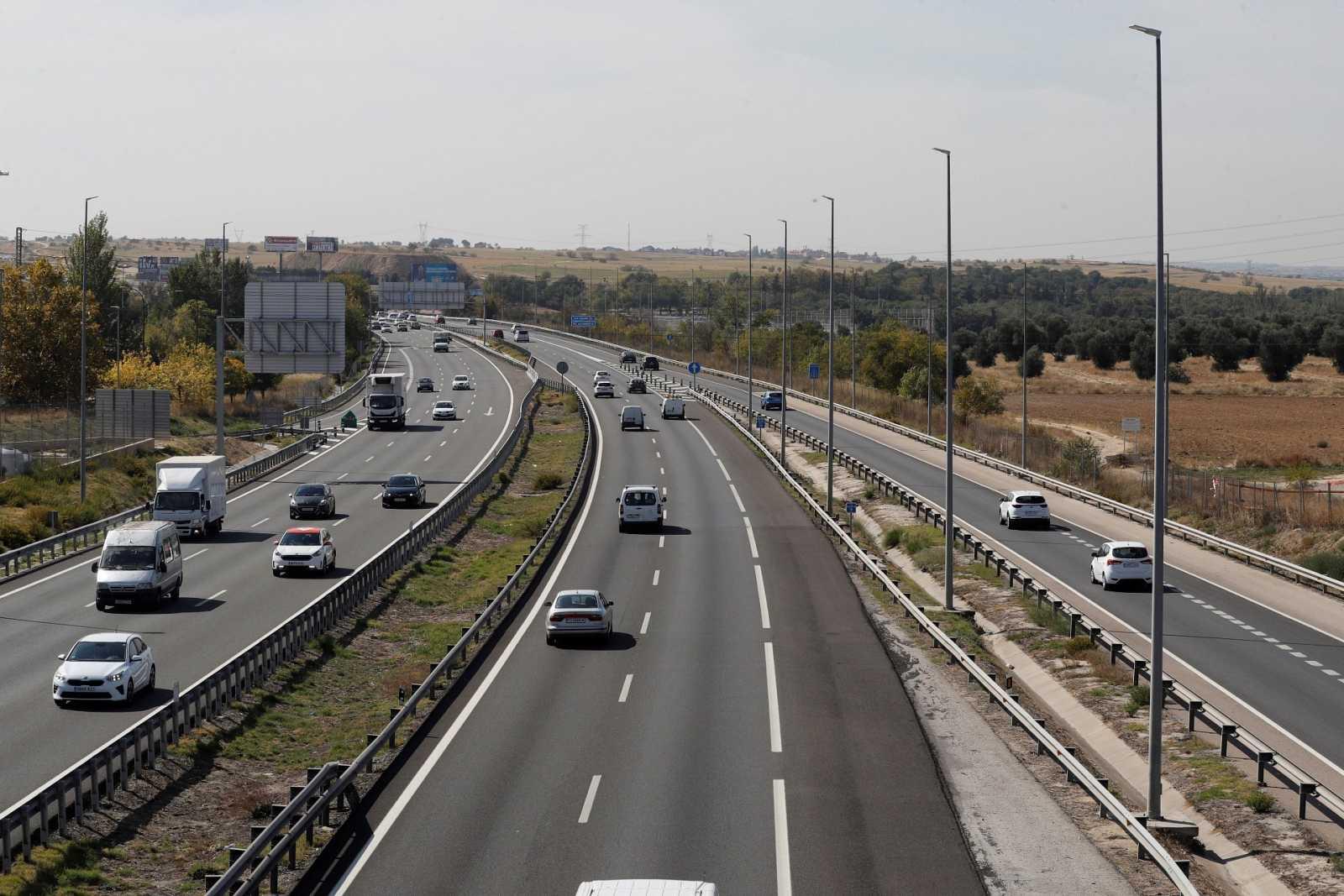 Carretera A-5 en sentido salida de Madrid.