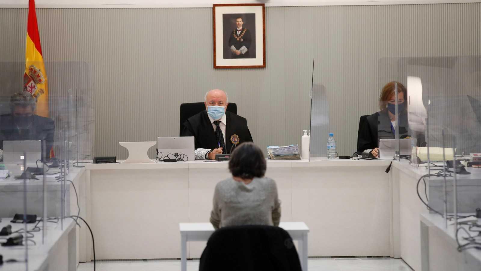 Soledad Iparraguire, Anboto, durante su juicio en la Audiencia Nacional