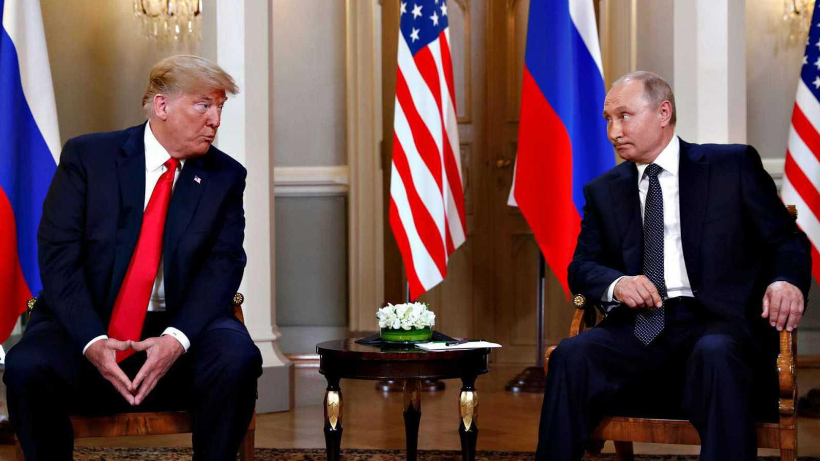 El presidente de Estados Unidos, Donald Trump, y el presidente de Rusia, Vladimir Putin, en una imagen de archivo.