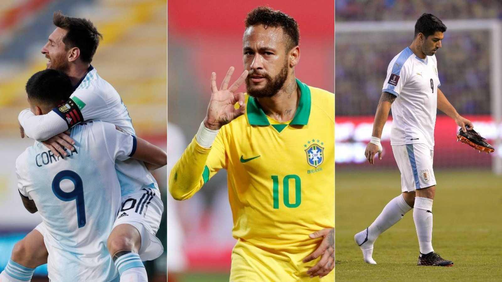 Leo Messi, Neymar y Luis Suárez durante los partidos clasificatorios para el Mundiald e Catar 2022