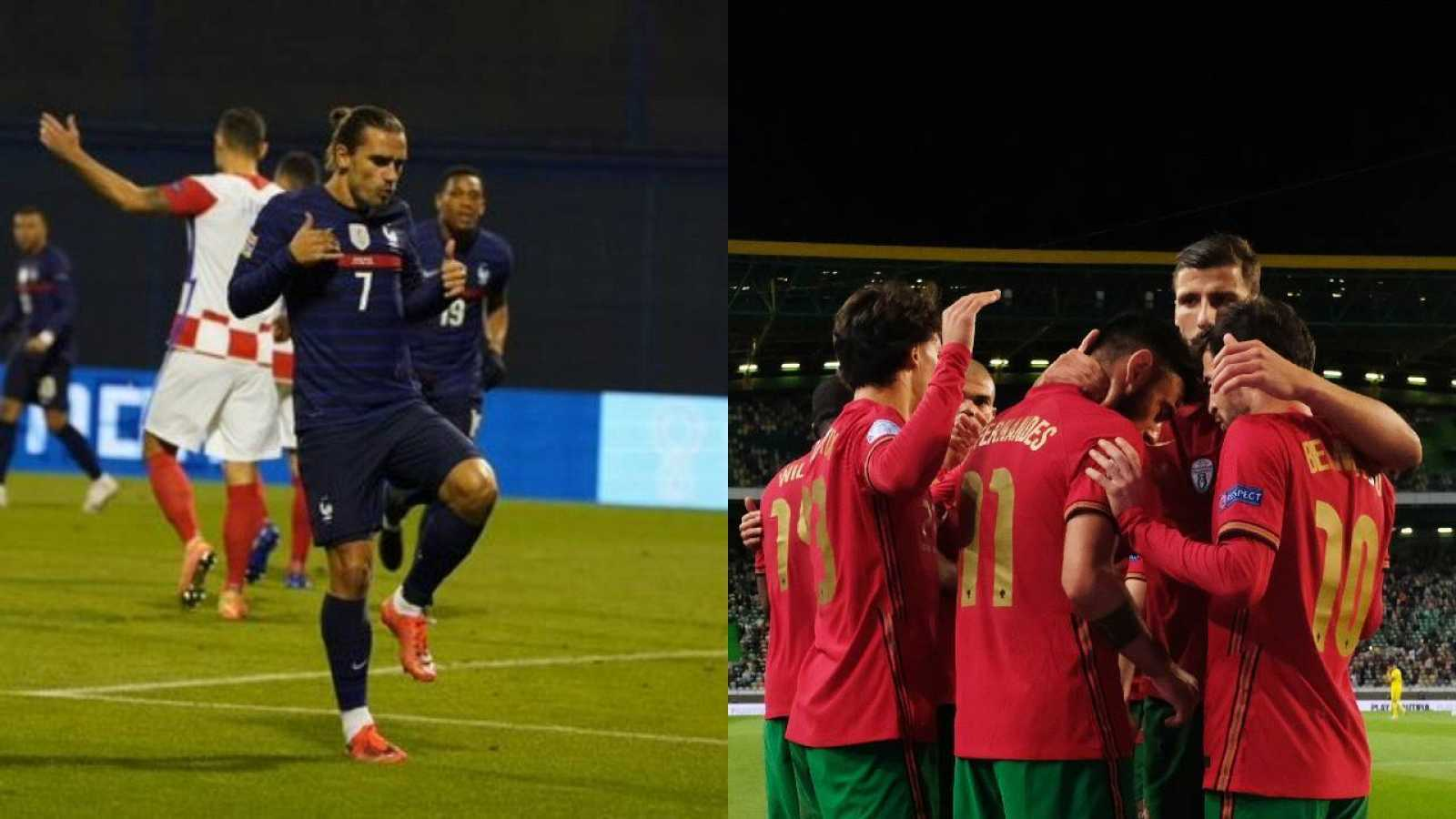 Griezmann marca y manda un mensaje a Koeman; Portugal golea sin Cristiano Ronaldo