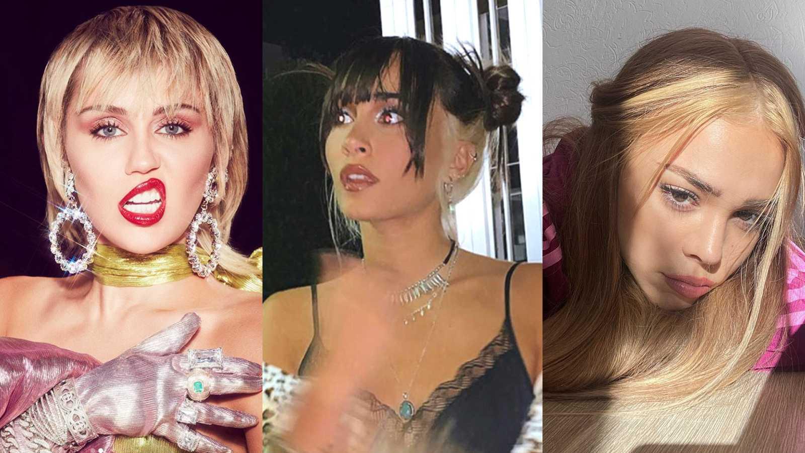 Miley Cyrus, Aitana y Danna Paola cambian de 'look' antes de acabar el año