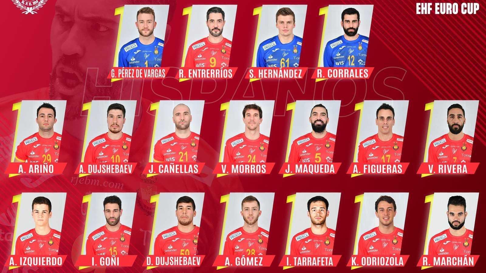 Lista de los 18 convocados para el Europeo 2022 de balonmano