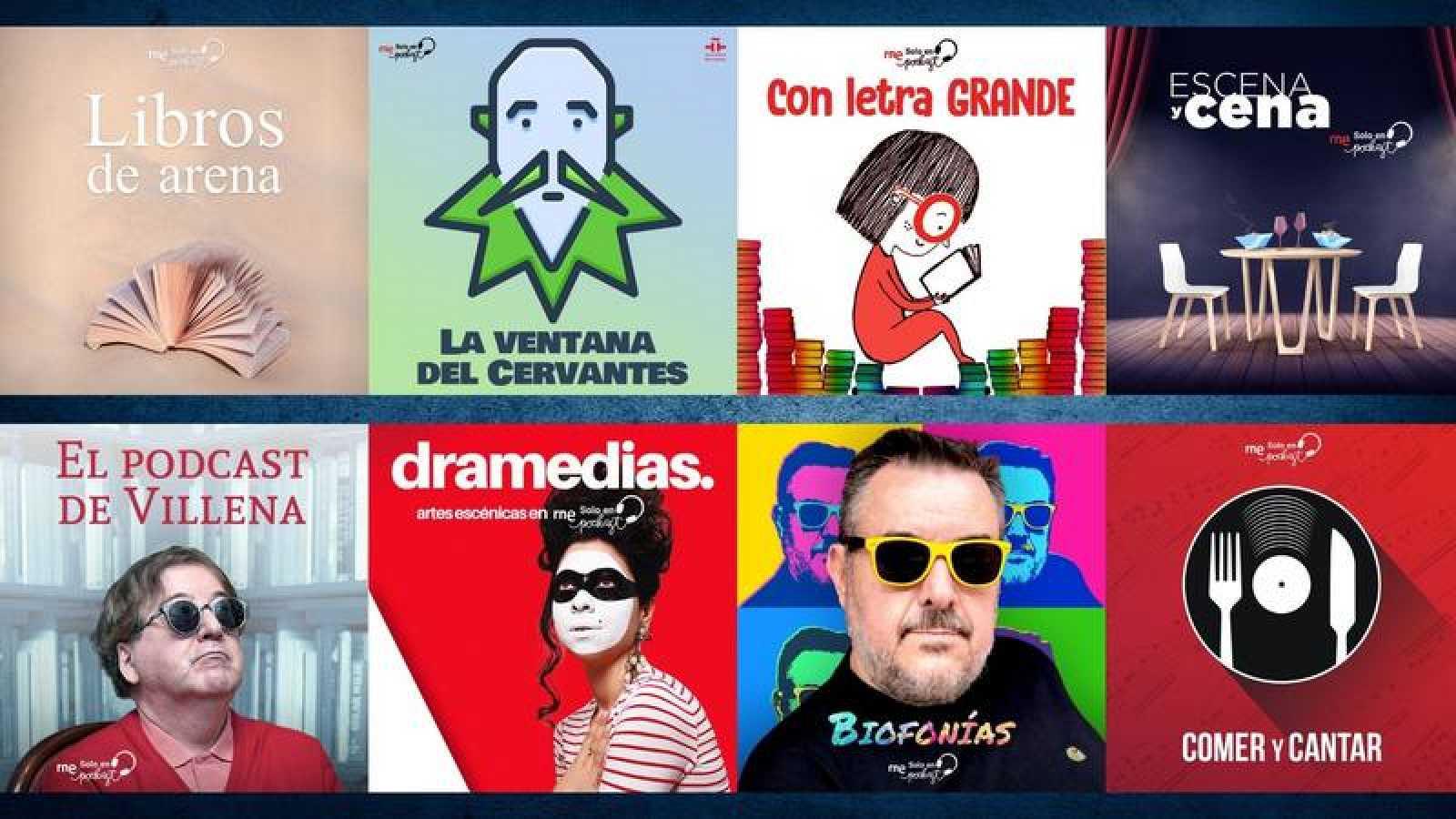 Imágenes de algunos de los nuevos programas de RNE Solo en Podcast.