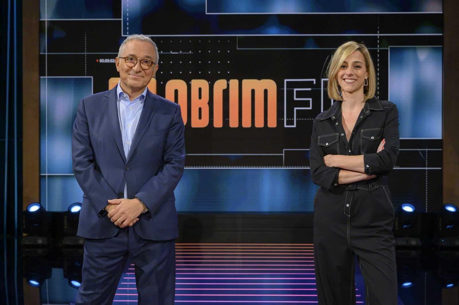 Xavier Sardà i Ana Boadas al plató del programa