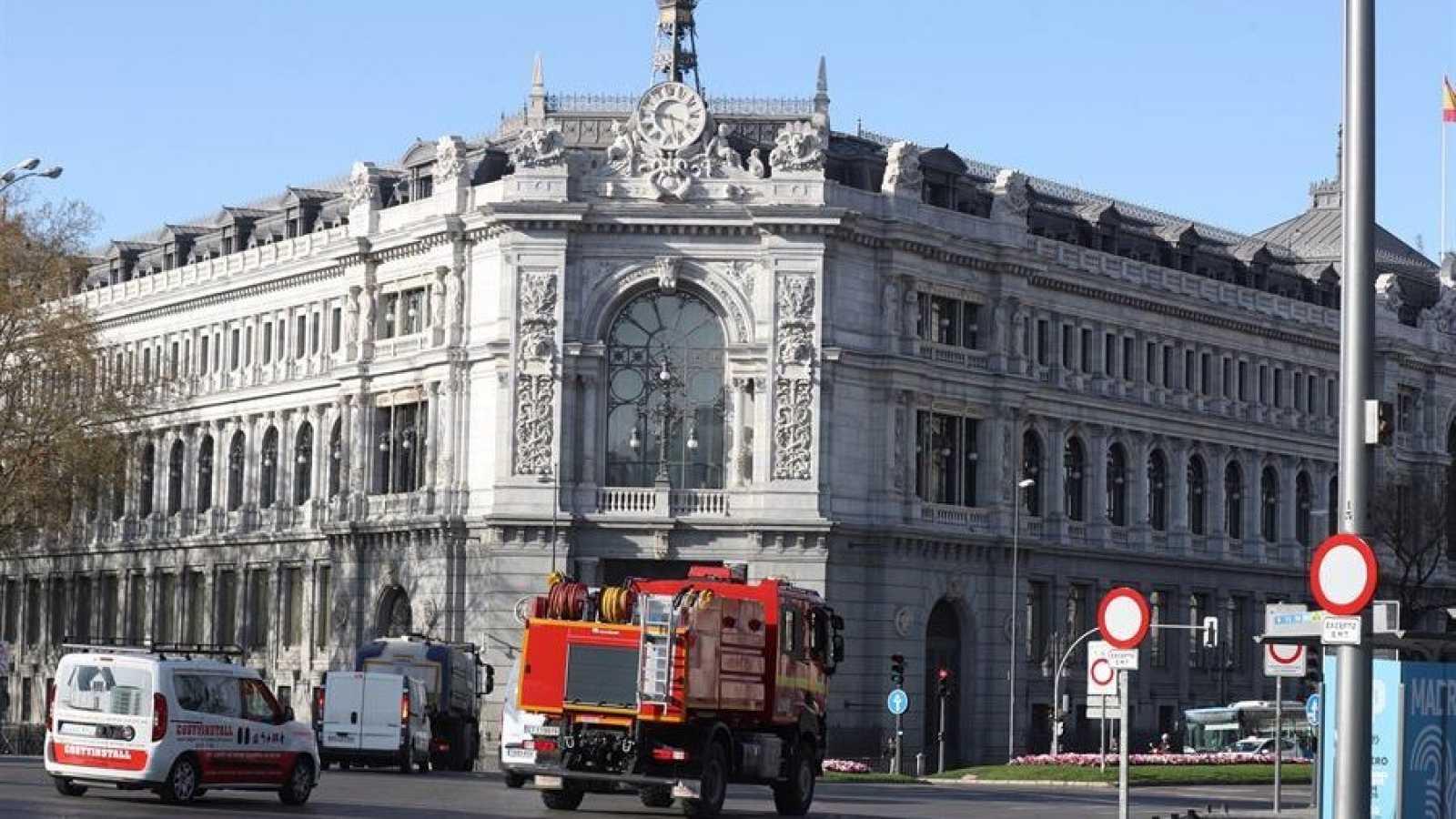 Edificio del Banco de España, en la madrileña plaza de Cibeles.