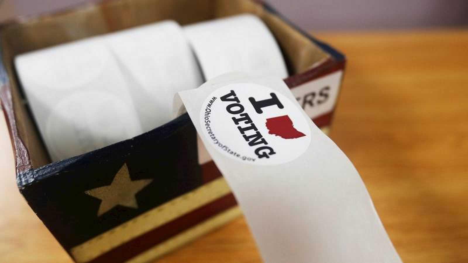Pegatinas para los votantes en Ohio