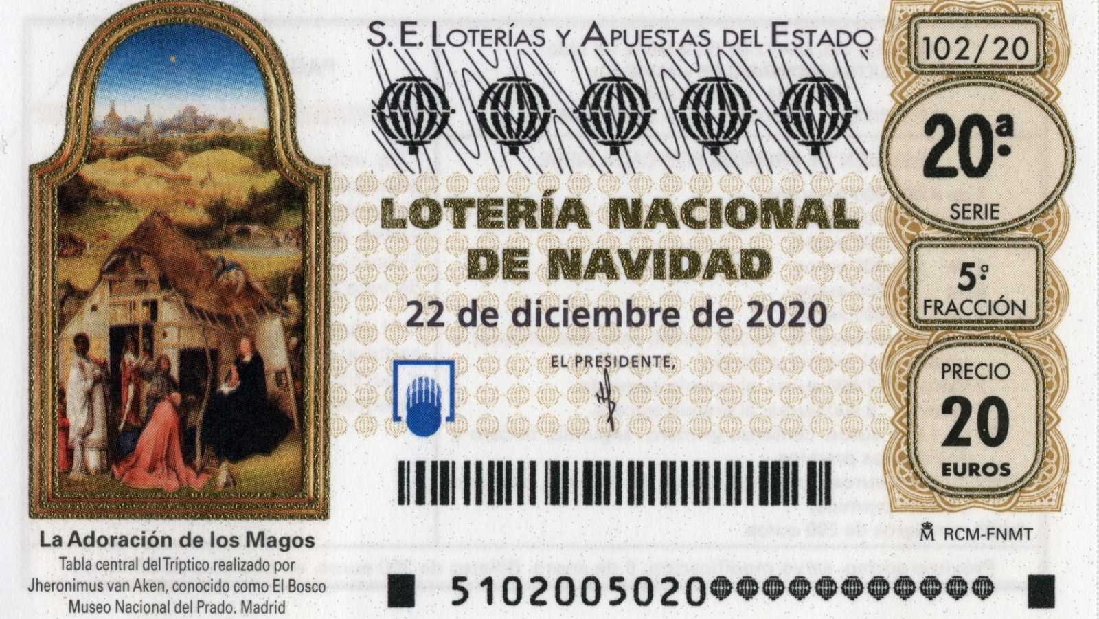 Así es el décimo de Lotería de Navidad de 2020