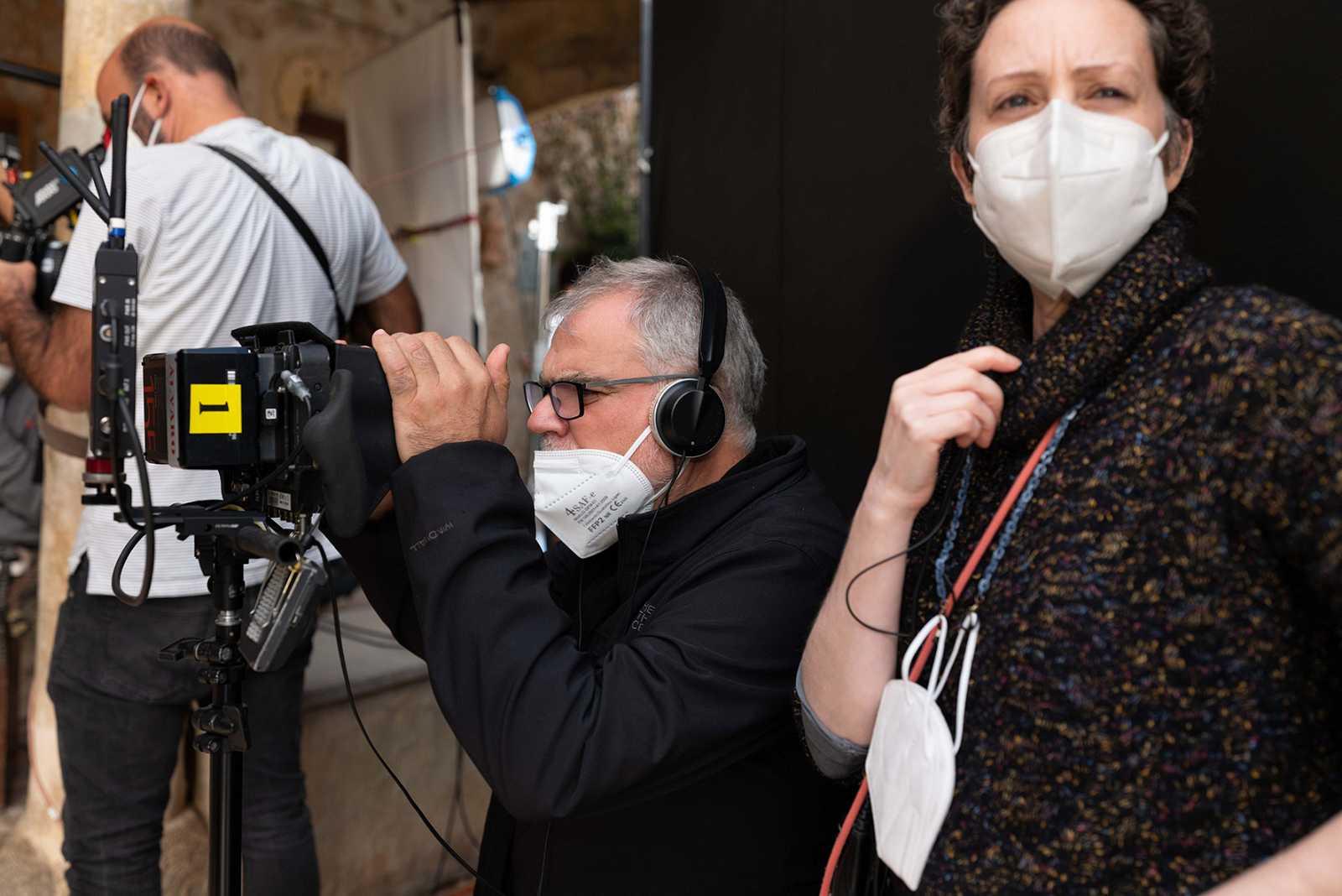 Benito Zambrano, durante en rodaje en Mallorca