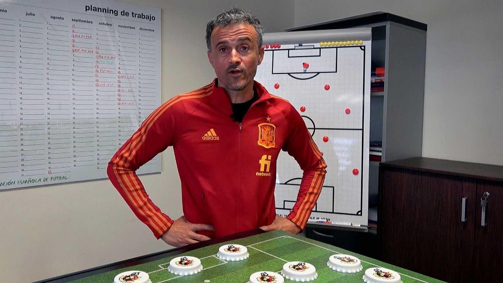 Luis Enrique Martínez, en la imagen durante el anuncio de la convocatoria hoy viernes, para el amistoso de España ante Países Bajos