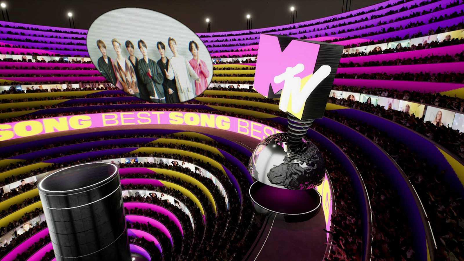 Momento de la gala online de los MTV EMAs 2020