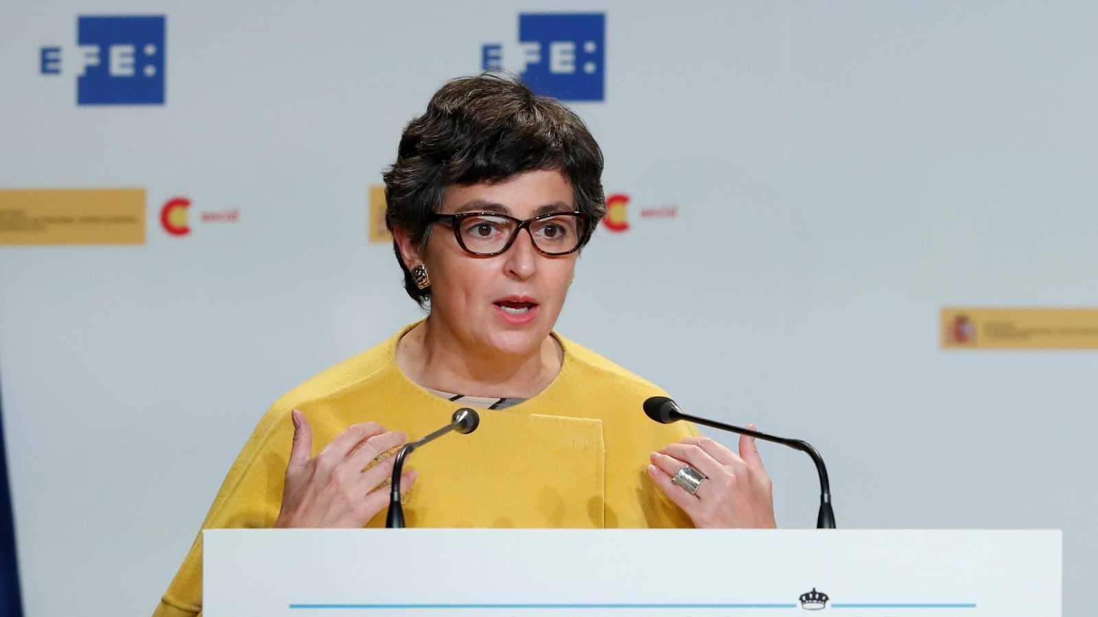La ministra de Exteriores, Arancha González Laya