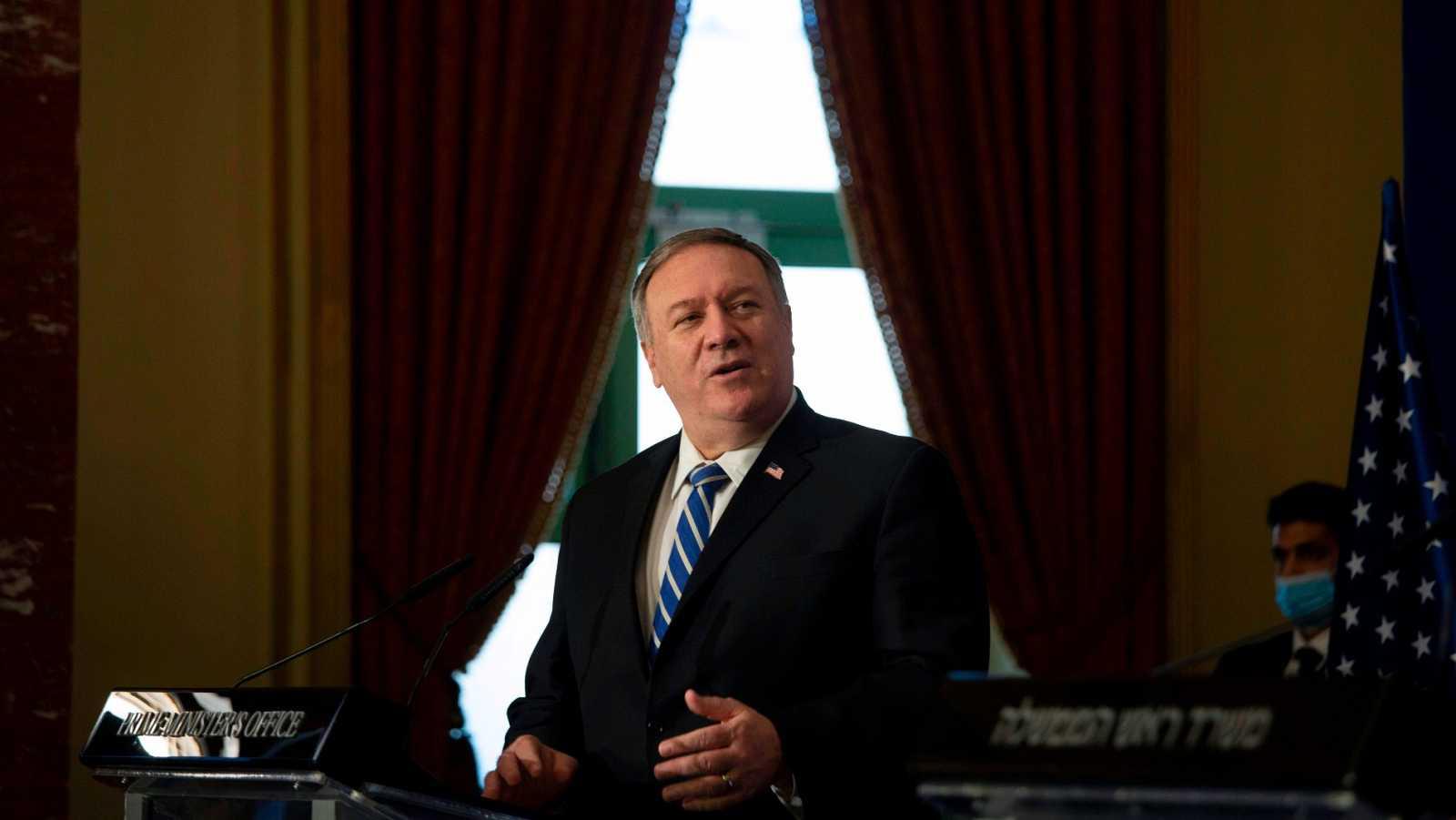 El secretario de Estado Mike Pompeo en Jerusalén