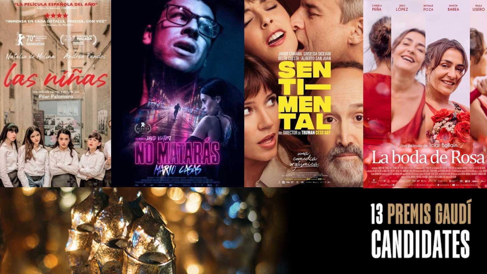Les pel·lícules 'Las niñas', 'No matarás', 'Sentimental' i 'La boda de rosa', participades per RTVE, candidates als Premis Gaudí 2020