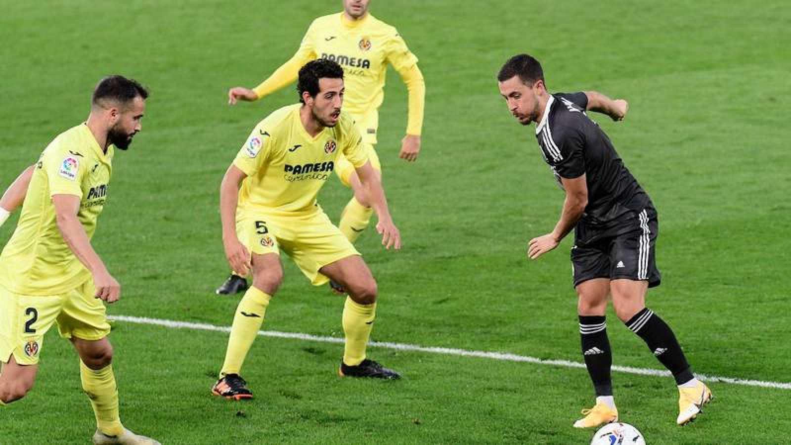 Imagen del partido entre Villarreal y Real Madrid.