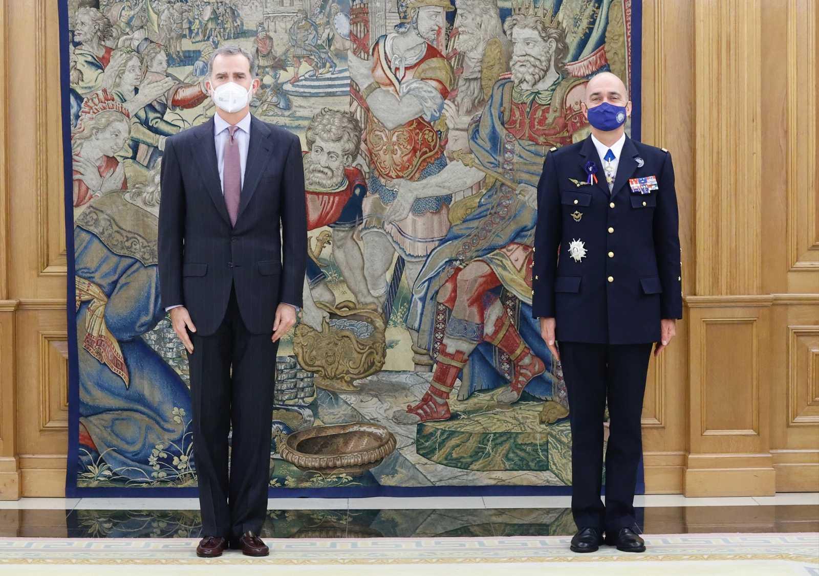 El rey Felipe VI, durante una audiencia este lunes