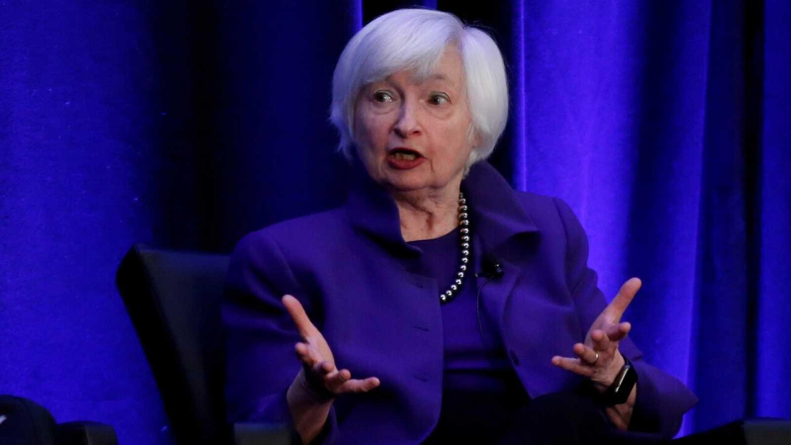 La expresidenta de la Fed Janet Yellen en una foto de archivo (2019). REUTERS/Christopher Aluka Berry
