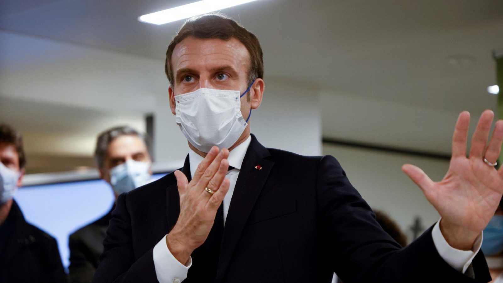 El presidente francés Emmanuel Macron en una comparecencia pública esta semana.