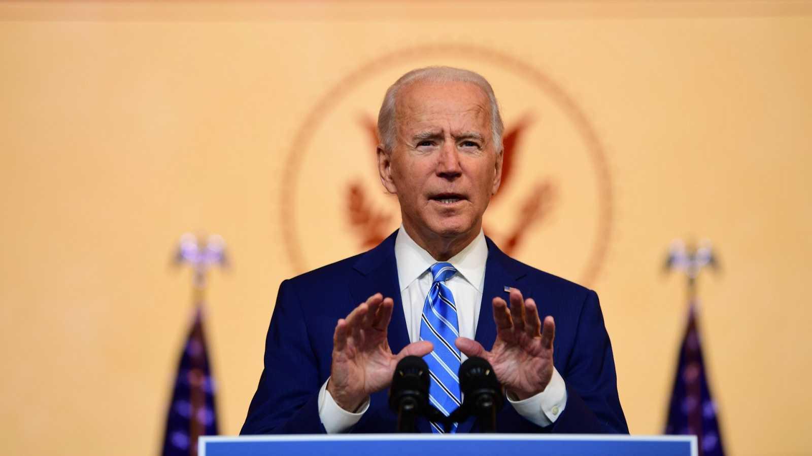Joe Biden, durante su mensaje a la nación por Acción de Gracias