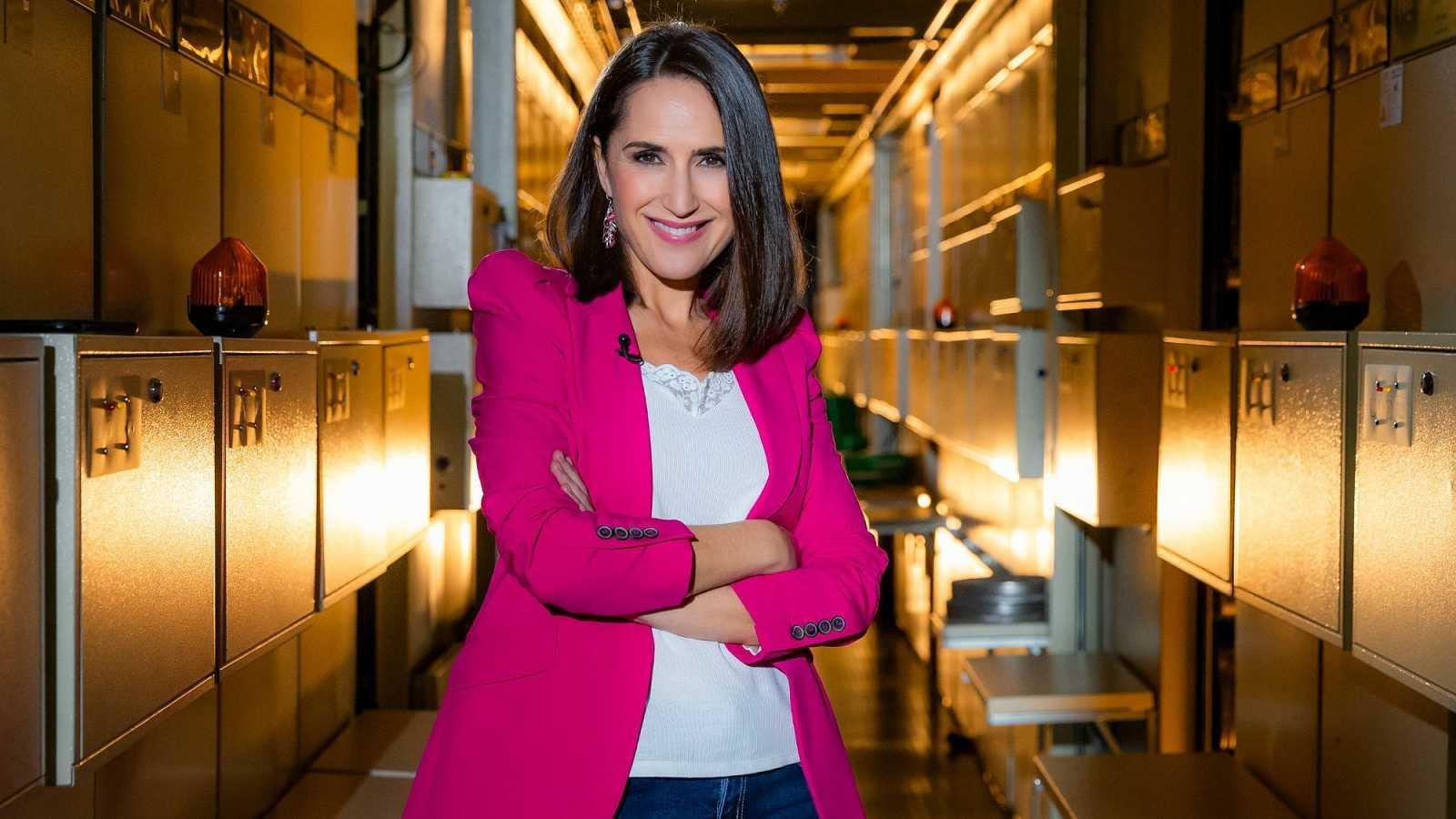 Virginia Díaz, presentadora del programa de La 2 'Cachitos de hierro y cromo'