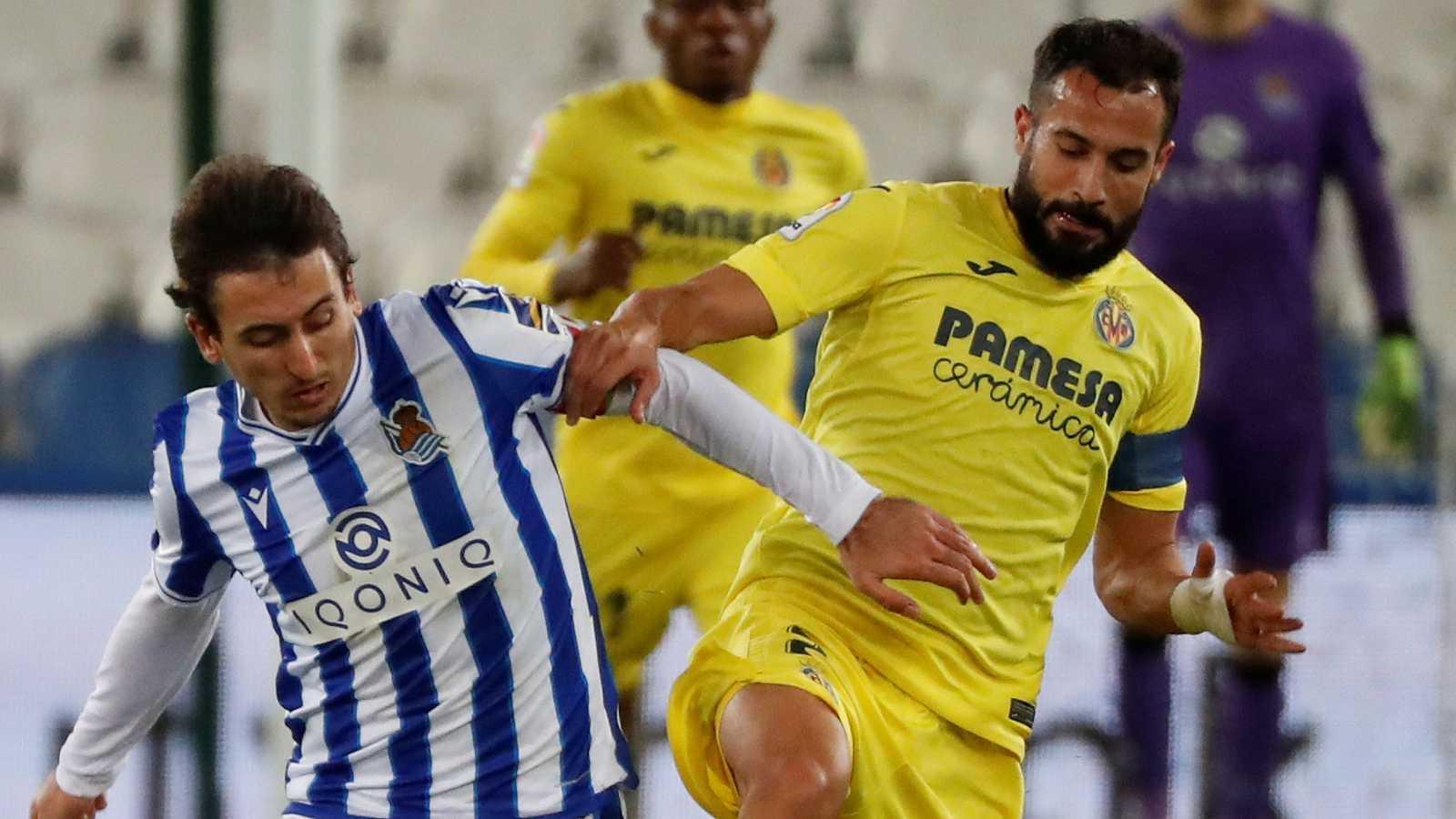 La Real Sociedad mantiene el liderato tras su empate ante elVillarreal
