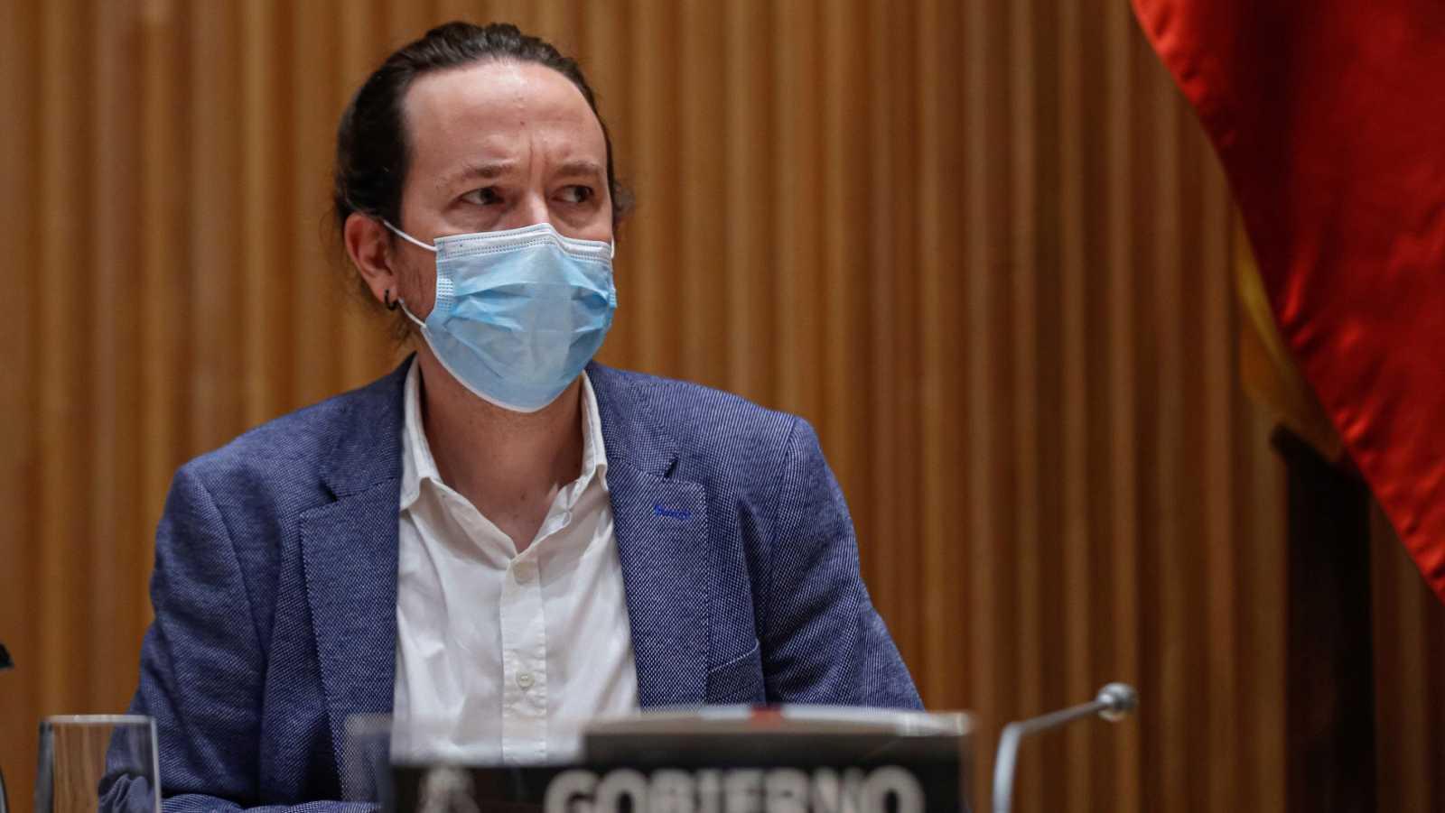 El vicepresidente segundo del Gobierno y ministro de Derechos Sociales y Agenda 2030, Pablo Iglesias, en el Congreso.