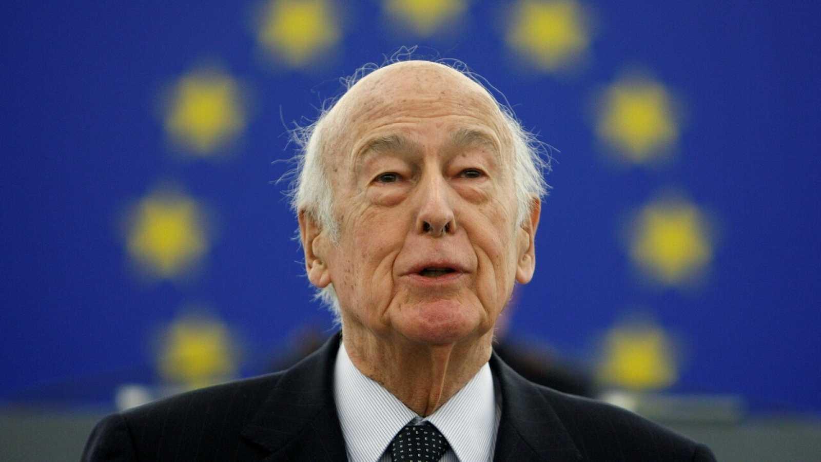 El expresidente francés Valery Giscard d'Estaing durante una intervención en el Parlamento Europeo