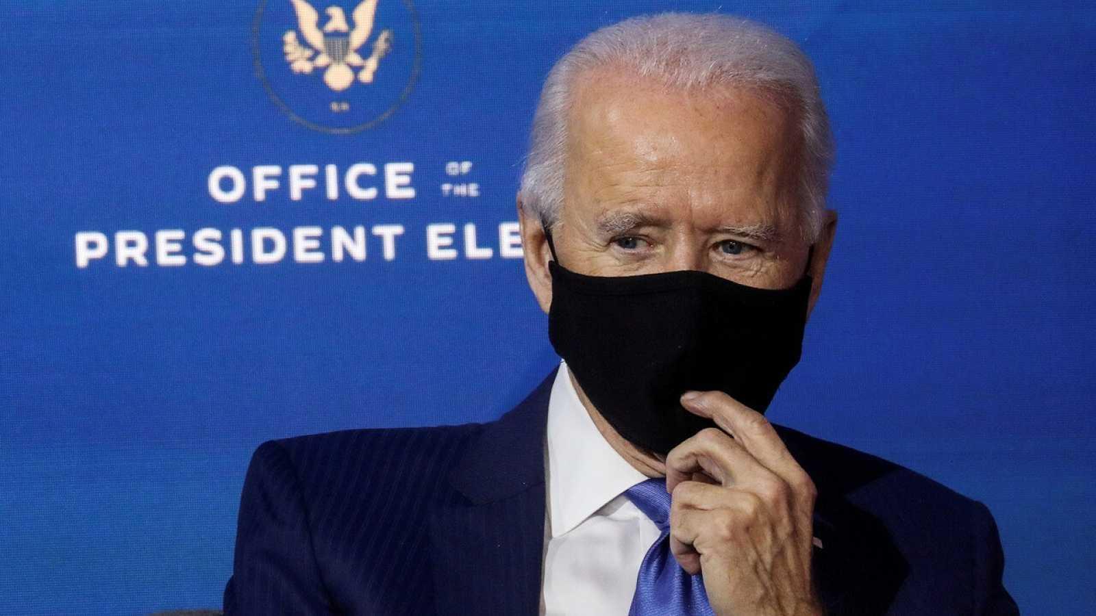 Biden ha pedido a los estadounidenses usar mascarilla en sus 100 primeros días