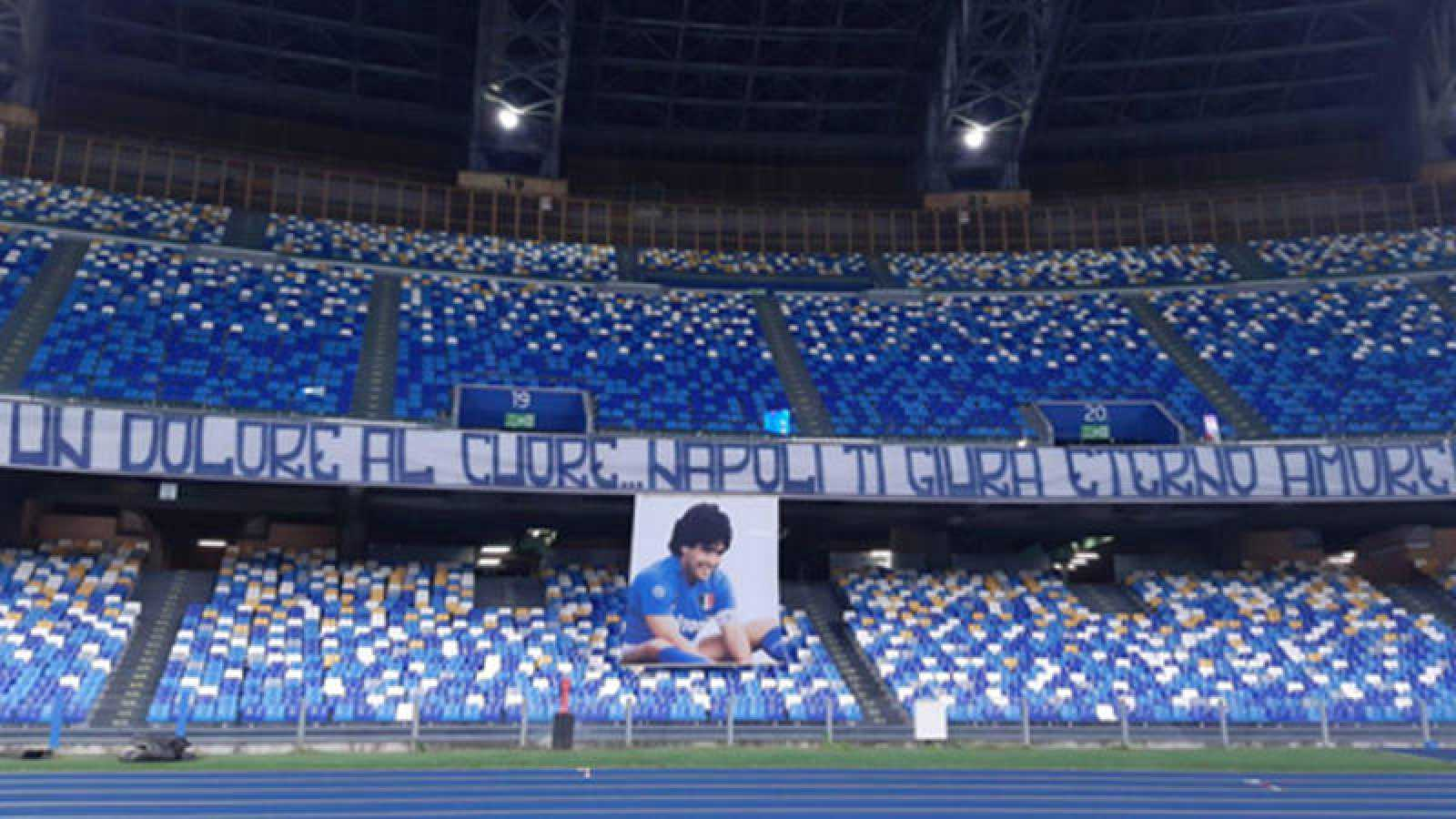 El estadio del Nápoles ya es el Diego Armando Maradona