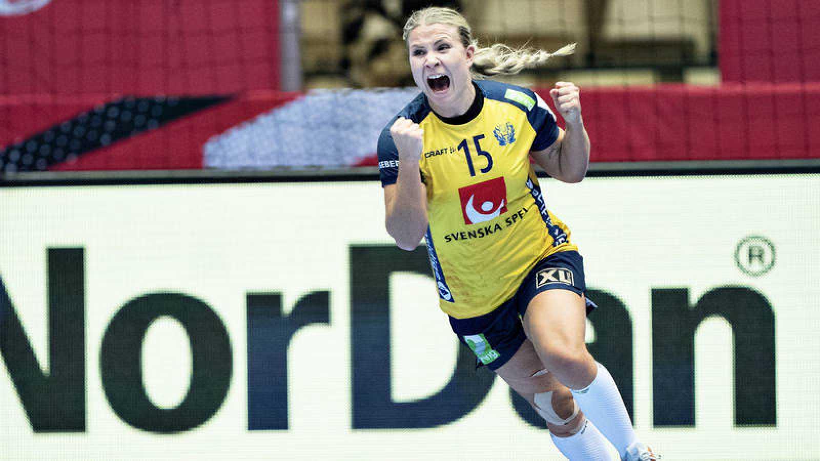 Emma Rask, jugadora de la selección sueca.