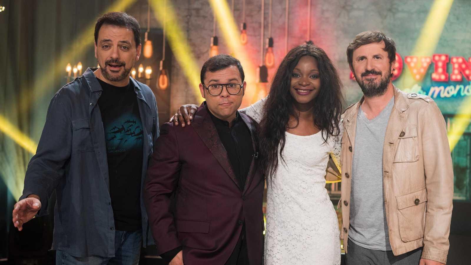 Juan Solo, Toni Mata, Asaari Bibang i Jordi Ríos al plató de '20Vint'
