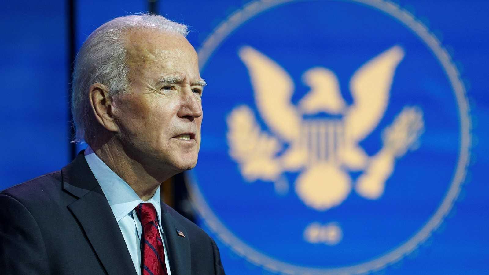 El presidente electo Joe Biden anuncia su equipo de respuesta a la pandemia en una rueda de prensa desde su sede en Wilmington, Delaware, EE.UU.